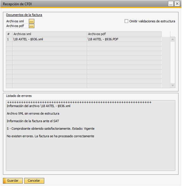 validador de facturas de proveedores